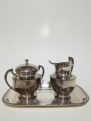 Vintage Crescent silverplated coffee caddy