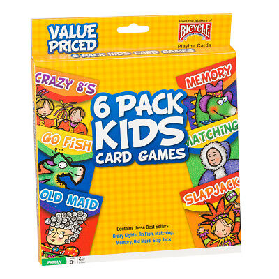 NEW Games Bicycle Kids Card Games Set 6 Pack