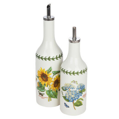 NEW Portmeirion Botanic Garden Oil/Vinegar Drizzler Set