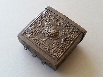 Ottoman Orient Balkan bronze ammo cartridge box case container EARLY 19th Cent.