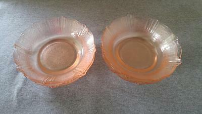 "6"" Cereal Bowls MacBeth Evans AMERICAN SWEETHEART Pink Depression Glass"