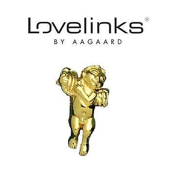 Genuine LOVELINKS sterling silver & gold plate MUSE charm bead angel remembrance