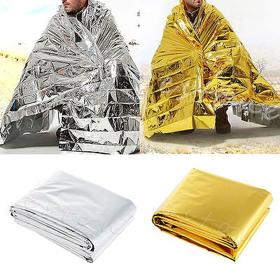 Waterproof Outdoor Rescue Blanket Pads Emergency Survival Foil Thermal First Aid