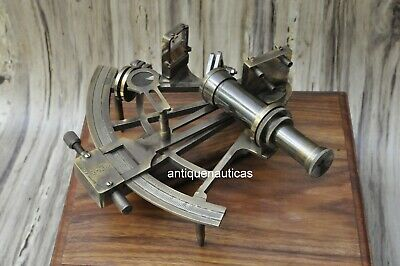 Nautical 8'' Working Maritime Brass Big Sextant Antiques Marine Captain Sextant.