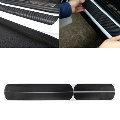 Car Door Scuff Sill Plates Step Plate Protector Carbon Sticker For Ford 4 Pcs