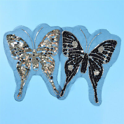Butterfly Reversible Sequins Patches Color Change Sew On Applique Sac Decor DIY