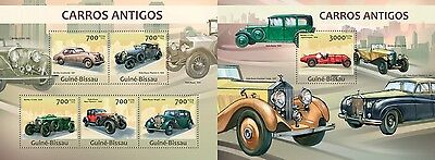 GB13217ab Guinea BISSAU 2013 Vintage coches MNH JUEGO