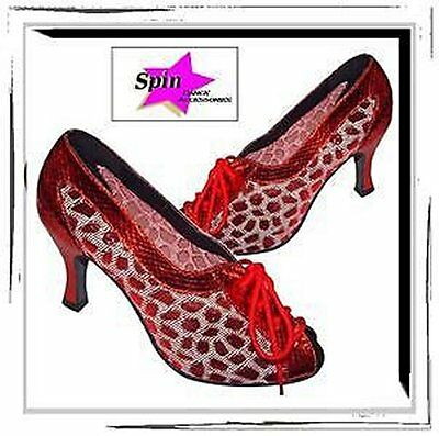 SEXY BURLESQUE PinUp Fashion Dance Costume Lace-Up Dress Shoe Pin Up New