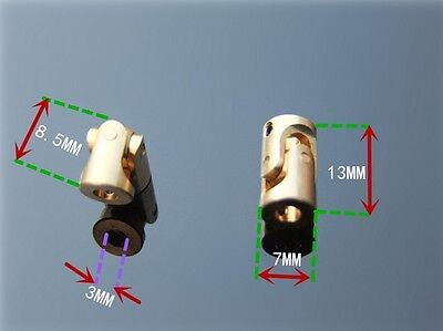 Brass Car Boat Shaft Coupling Motor connector Universal Joint Coupling