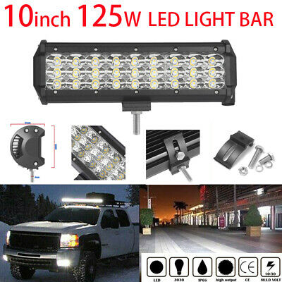10Inch 125W CREE Led Light Bar Spot Beam Work Light 4WD Off-Road Driving Lamp