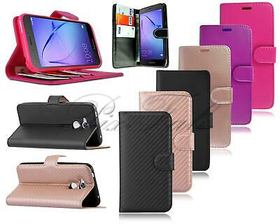 For Huawei Honor 6A DLI-AL10 New Genuine Black Leather Luxury Wallet Phone Case