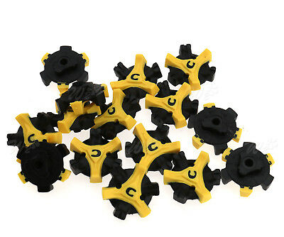 15pcs Replacement Golf Shoes Spikes Cleat Metal Thread Q-Lok Screw Studs
