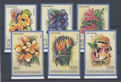 Burundi 1986 Flowers Nº 496/5001 Imperforated