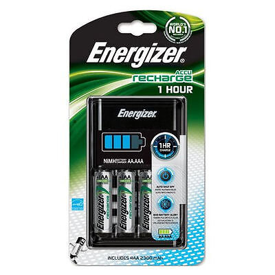 Energizer 1 Hour Battery Charger with 4x AA 2300mAh Batteries. Also charges AAA