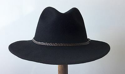Outback Fedora Australian Wool soft Water Repellent Foldble Fashion Classic