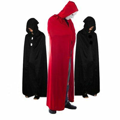Adult Halloween Costume Hooded Cloak Cape Cosplay Robe Apparel US STOCK