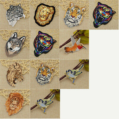 DIY Tiger Animal Embroidery Sew Iron On Patch Fabric Applique Clothes Bag Decor