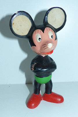 antike Micky Maus Mickey Mouse Figur aus Masse o Gips um 1950 15 cm groß