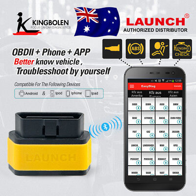 Launch X431 Easydiag 2.0 OBD2 EOBD Code Reader Scanner for IPhone Android 2 in 1