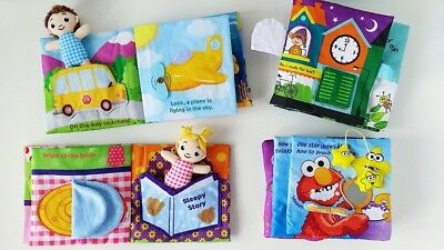 Baby Activity Quiet Busy Soft Cloth Book Elmo Doll Play House Motor Skill NEW