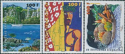 French Polynesia 2008 SG1077-1079 Artists paintings MNH