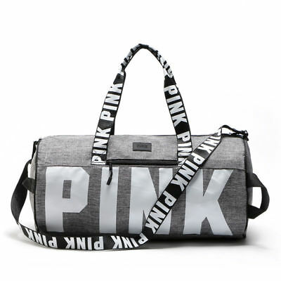 Victoria's Secret PINK Double Strap Duffle Gym Bag With Logo VS Sport Bag