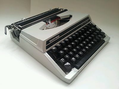 Sliver Reed SR 100 Tabulator typewriter with case