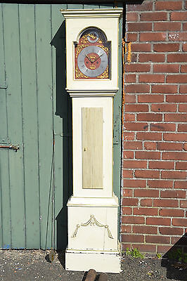 Antique Dutch Painted Grandfather Clock 1
