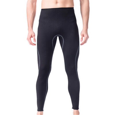Men Black Wetsuit Pants 3mm Stretch Neoprene Surf Surfing SCUBA Diving Trousers