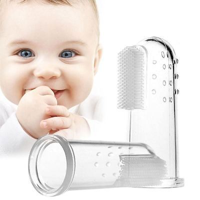 Baby Finger Tooth Brush Toothbrush Teething Baby Gum Cleaner Massager Soother