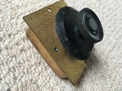 Vintage Brass Bodied Variable Tuning Capacitor, RCC Type RA36