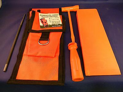 """Forester Logger Chainsaw  Tool Kit Wedge Pouch 8"""" Wedge File Wrench Husqvarna"""