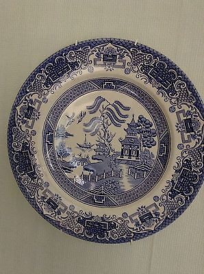 staffordshire blue willow dinner plate