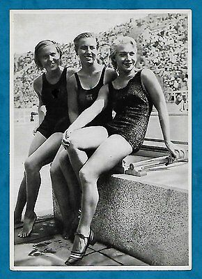 1936 Berlin Olympics Large German Cigarette Card Medallists Women's 10M Diving