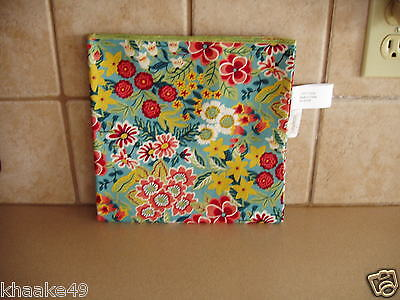 "Longaberger Perennial Garden 36"" Fabric Table Cloth Square * Nip * Free Shipping"