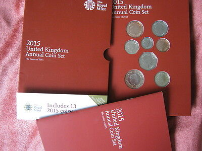 2015 Royal Mint United Kingdom  annual coin colection year set