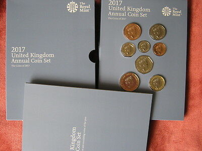 2017 Royal Mint United Kingdom  annual coin colection year set