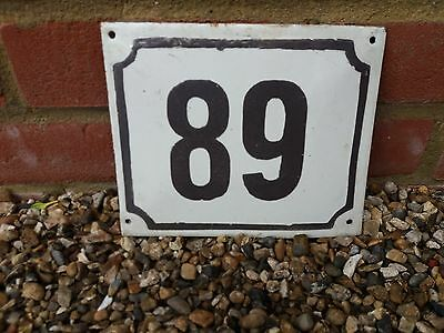 89 Old French house number 89  door gate plate plaque enamel steel metal sign