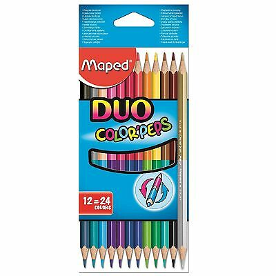Maped Color'peps Duo Colouring Pencils - Double Sided Crayons Stationery Art Fun