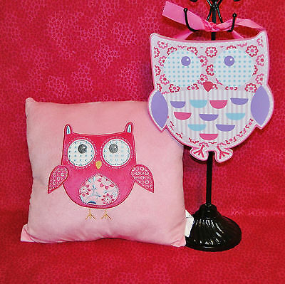 Owl Baby Nursery Accent Pillow in Pink Brand New