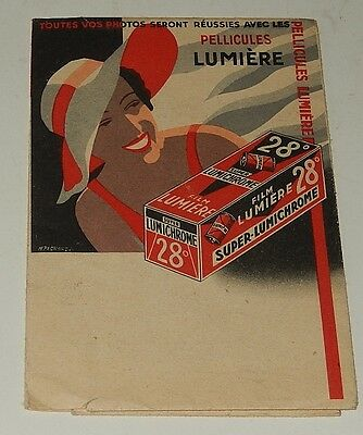 Ancienne Pochette photo Film LUMIERE Pellicule Super Lumichrome 28°