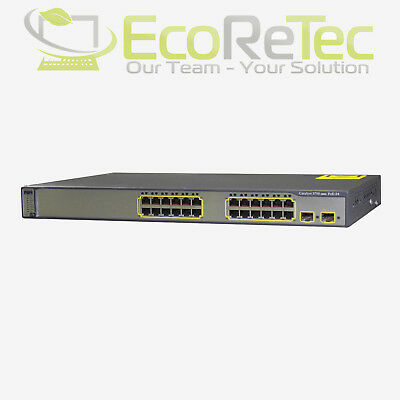 Cisco Catalyst WS-C3750-24PS-S Managed 24-Port Gigabit Switch Layer 3 VLAN 2xSFP
