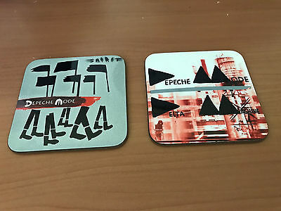 Depeche Mode Album Cover COASTER Set #5 + Plus FREE Enamel Badge Violator
