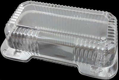 Dart Clear Hinged Lid Plastic Container 9x 5 3/8 x 3 1/2 25