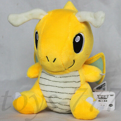 "pokemon 6""/18cm Dragonite Plush Toy Pikachu Dragon Figure Stuffed Animal Doll"
