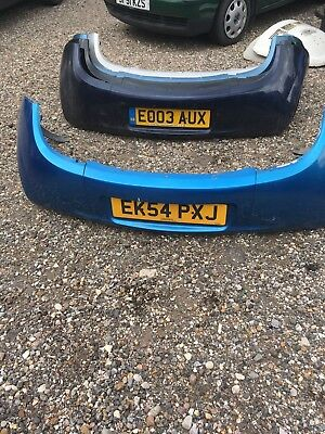 Ford Ka Rear Bumper In Ford Aquarius Blue   Good Condition
