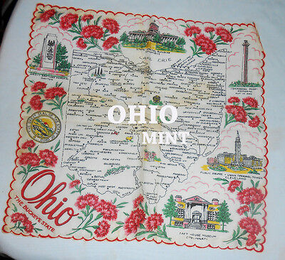 Mint Vintage Ohio State Handkerchief All Cotton