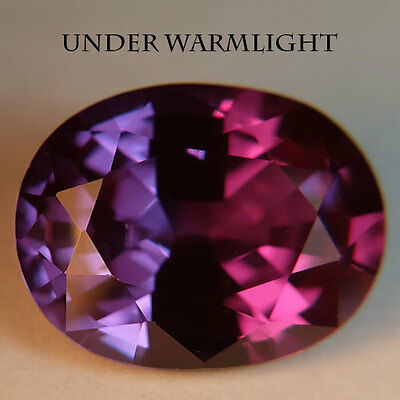 11.30ct.AWESOME RUSSIAN COLOR CHANGE ALEXANDRITE OVAL GEMSTONE