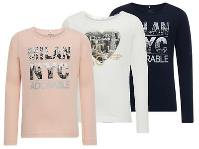 Name it  Mädchen  Langarmshirt Nitberit nitlix nitilse 110 - 164