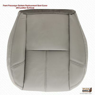 2007-2014 Chevy Suburban 1500 LT LS Z71 Passenger Bottom Leather Seat Cover Gray